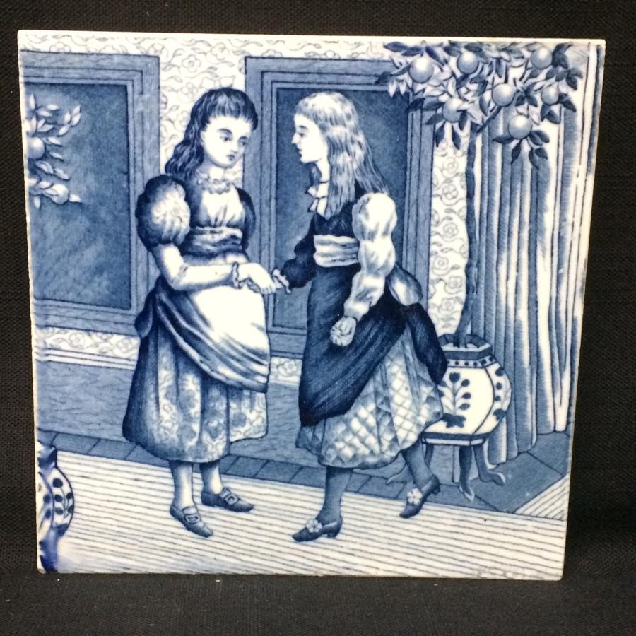 Tile ~ 1879 ~ Wedgwood Months ~ JANUARY ~ Helen Miles Artist