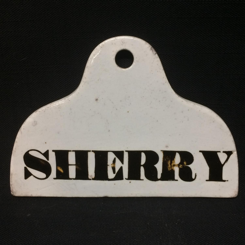 Wine Cellar Bin Label England 1800 - 1840 ~ SHERRY
