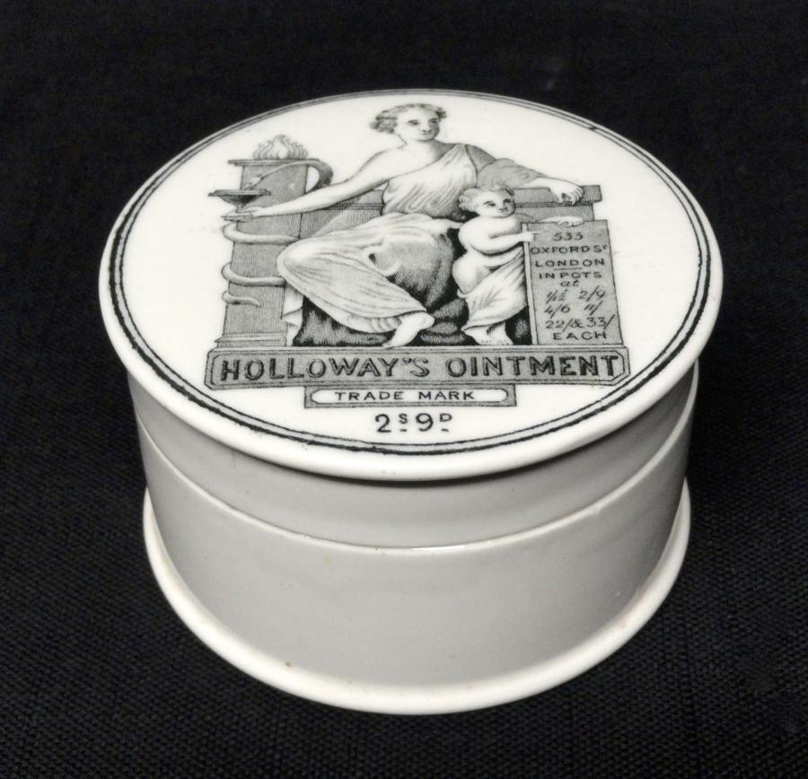 Holloway's Ointment Cure-All Medicine Pot ~ 1880