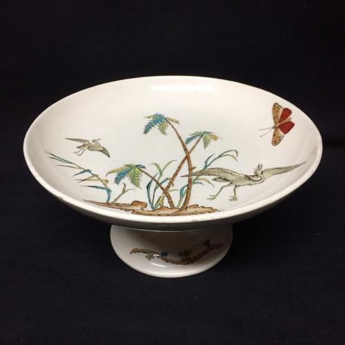 English Cake Cheese Tazza Comport ~ Copeland Egrets 1878