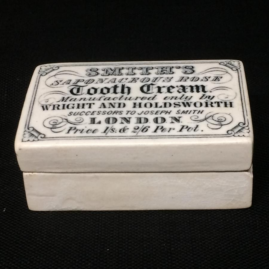 1880 Tooth Cream English Victorian Saponaceous Rose Pot