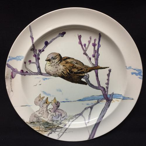 RARE Pierre Mallet and Leonce Goutard Hand Painted Plate ~ 1888
