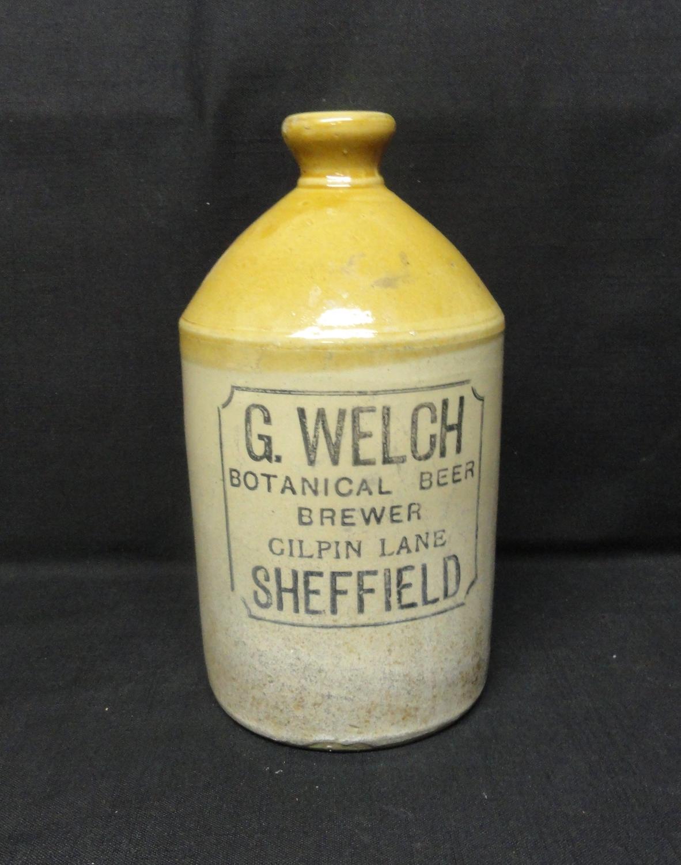 Ginger Beer Stoneware ~ Welch Botanical Beer ~ 1890