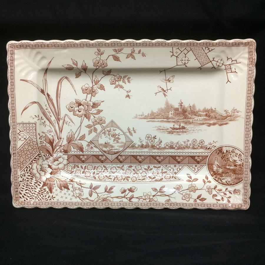 1880 Bengal Shape Aesthetic Movement Era Platter ~ 1880