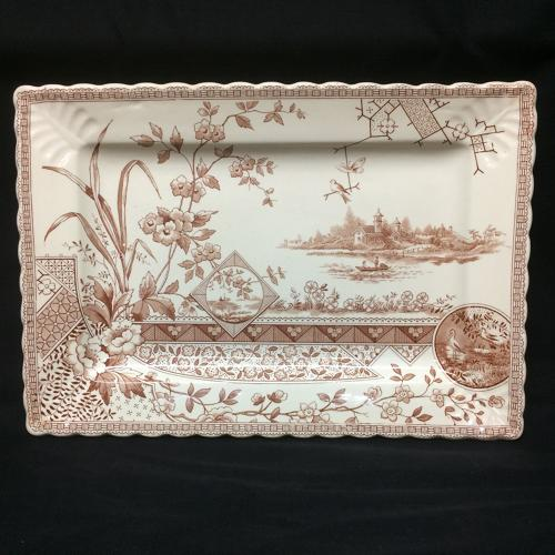 1880 Bengal Shape Aesthetic Movement Era Platter ~ 1880