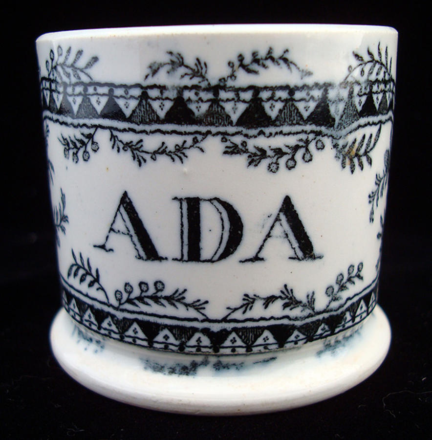 Soft Paste Named Child's Mug ~ ADA 1840