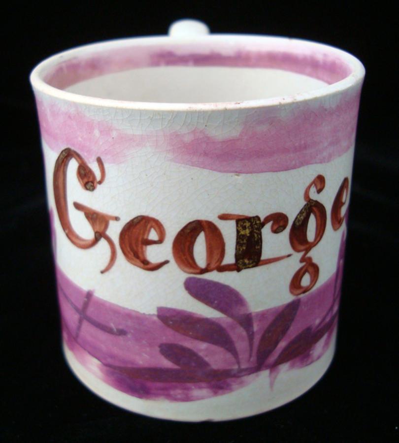 Sunderland Luster Mug ~ GEORGE 1830