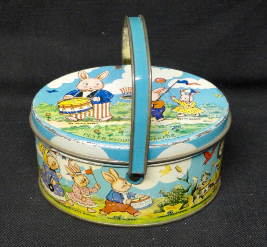 TINDECO PETER RABBIT July 4 Candy TIN Container