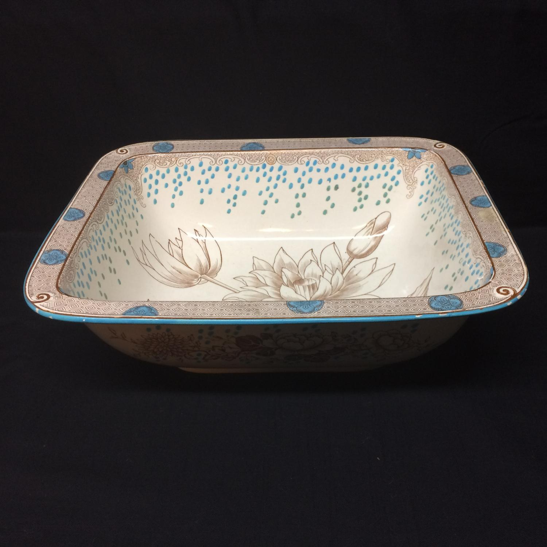 1870 ~ Brown Transferware Doulton Ladies Foot Bath ~ ARIZONA