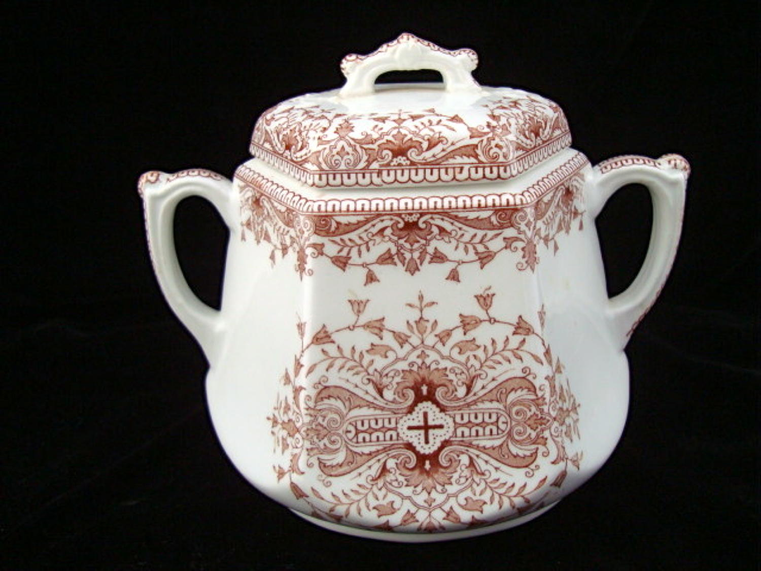Aesthetic Movement Brown BISCUIT JAR ~ Tournay 1885