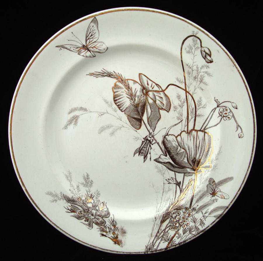 Pair of English Icelandic Poppy Plates ~ 1885