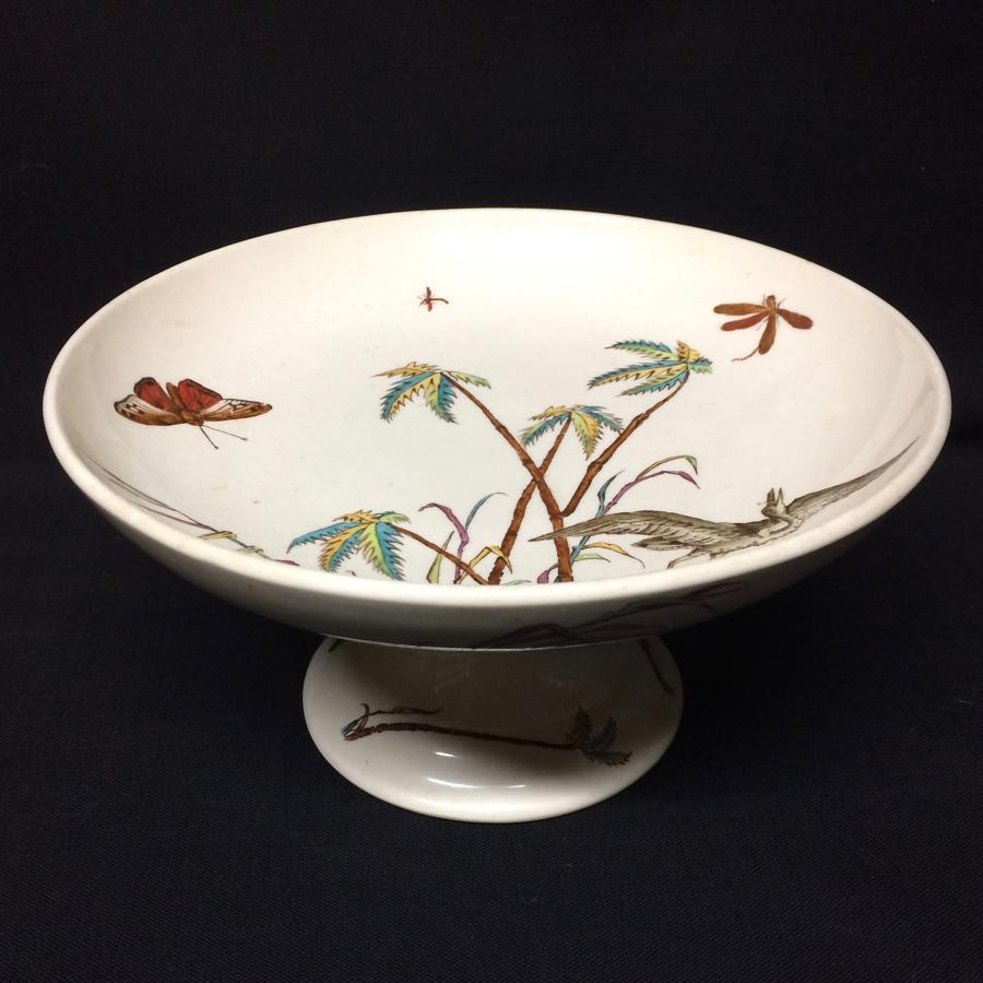 Victorian English Cake Cheese Tazza Comport ~ Copeland Egrets 1878
