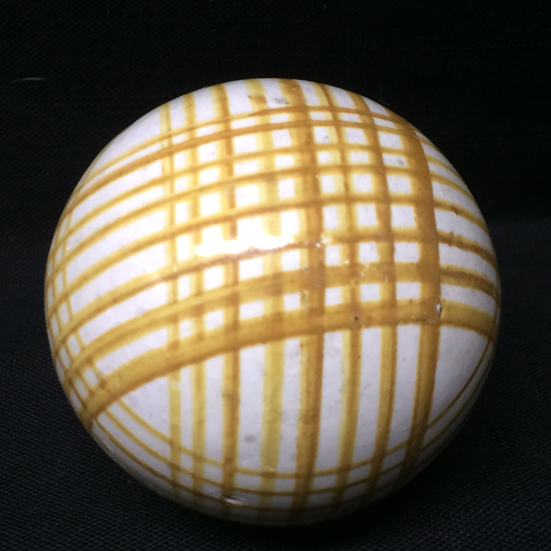Victorian Ceramic Scottish Carpet Ball Boule Bowl 1860