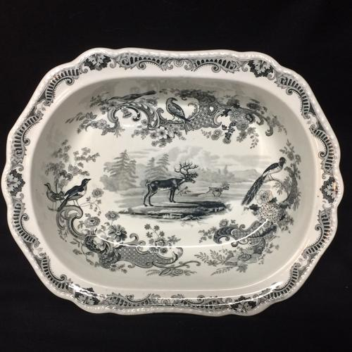 1820 ~ Rare Early Staffordshire Server ~ REINDEER Zoological Sketches