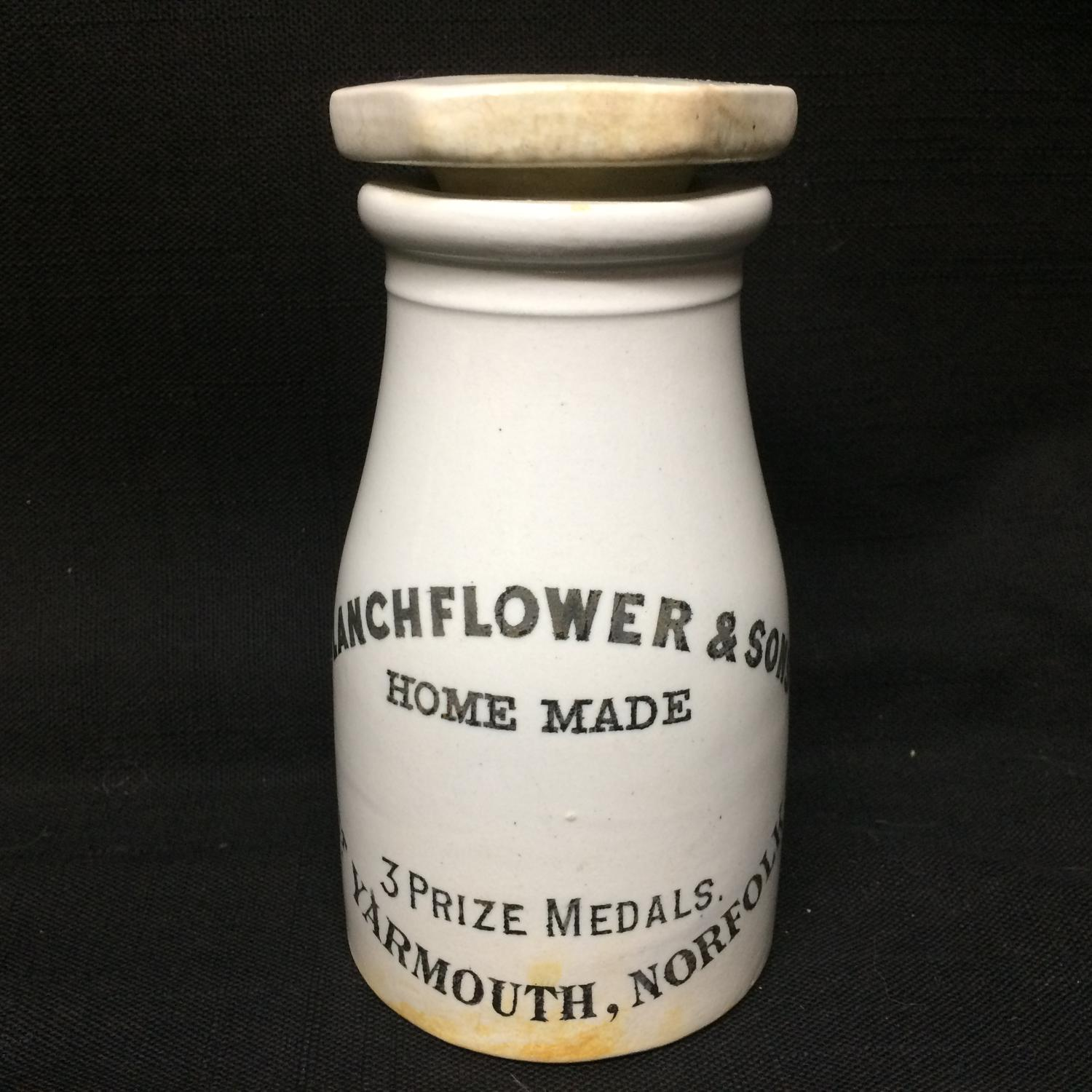 Stoneware Advertising Potted Meat/Fish Pot ~ 1885
