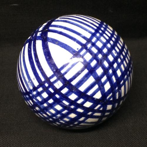 Victorian Ceramic Scottish Carpet Ball Boule Bowl 1860