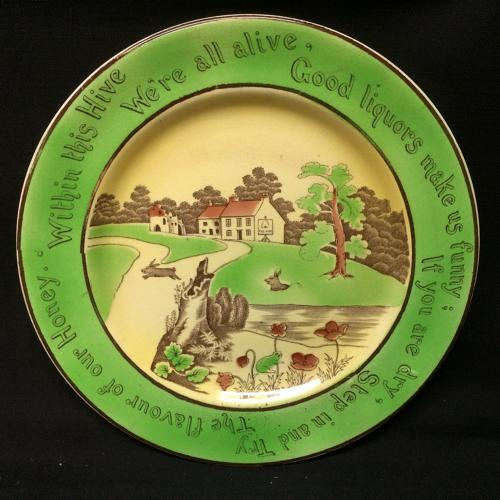 St Augustine Staffordshire Rabbitware Rabbits Frog Plate c1900