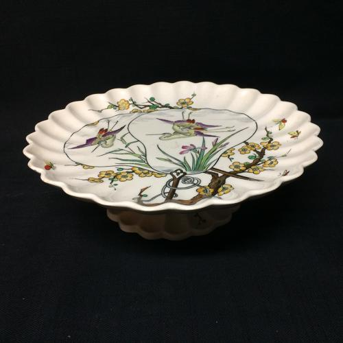 1877 Victorian Aesthetic Movement Tazza ~ Butterfly and Birds