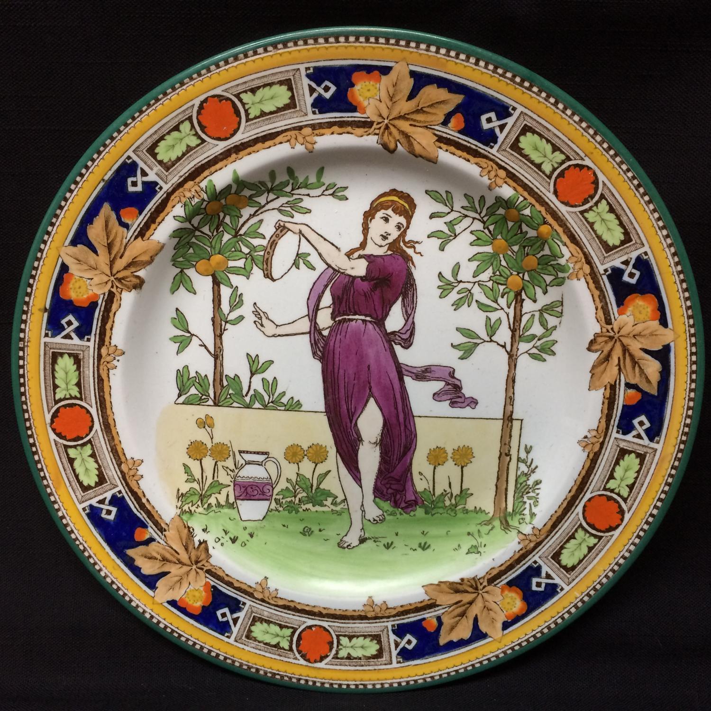 1891 ~ Superb Wedgwood Polychrome Plate ~ Musicians ~ 1891