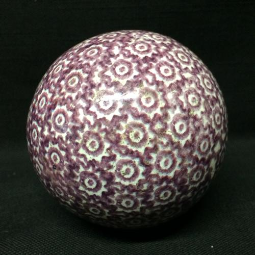 Victorian Purple Scottish Carpet Ball Boule Bowl 1860