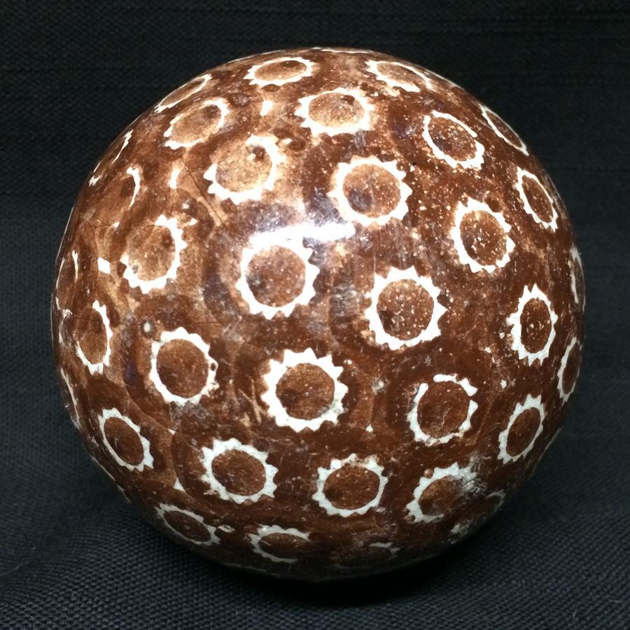 Victorian Brown Scottish Carpet Ball Boule Bowl 1860