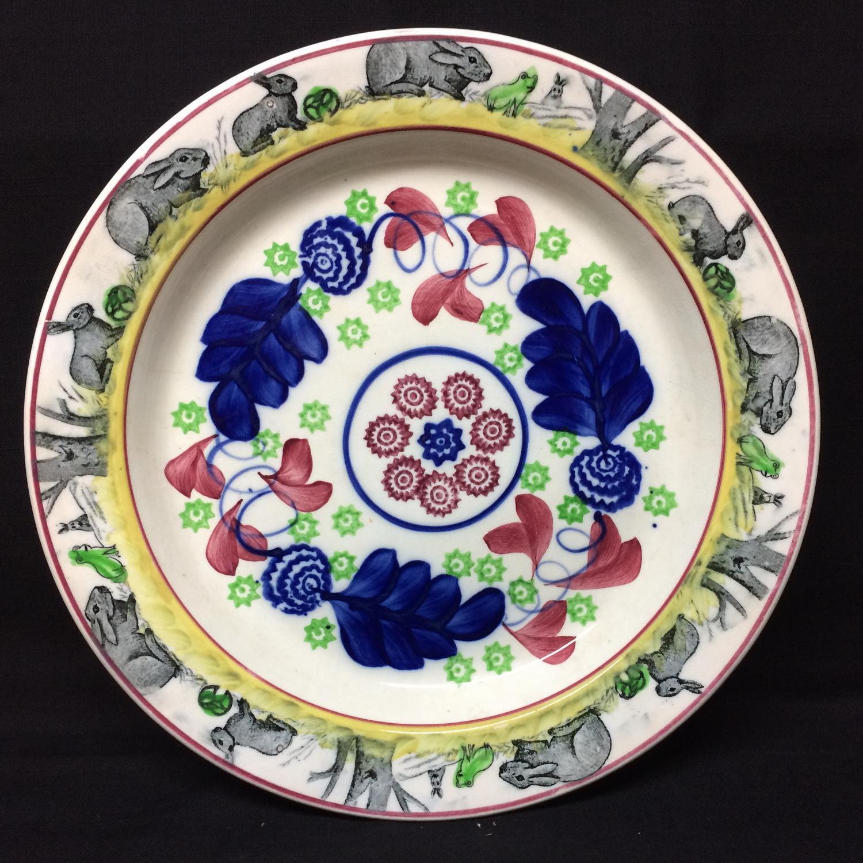 C 1900 ~ Bulls Eye Rabbitware Ironstone CHARGER Platter