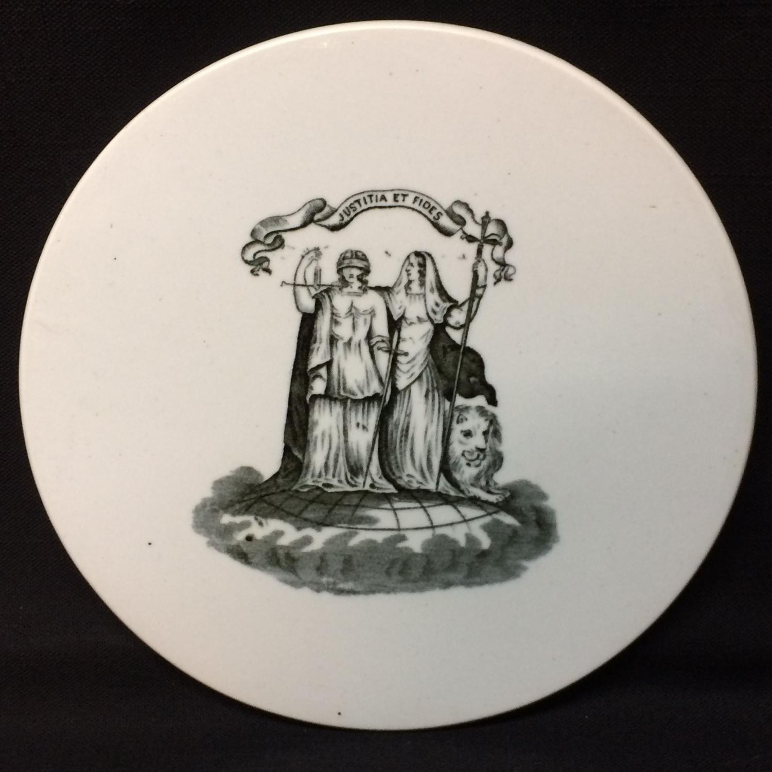 Scottish Ironstone Victorian Scale Plate ~ Dairy and Meat Scale ~ 1890