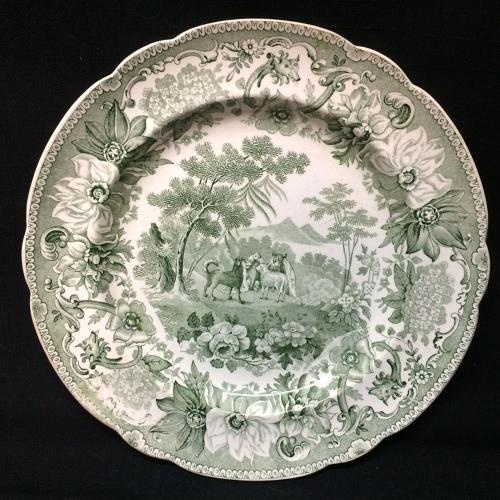 Copeland Garrett Plate Dog & Sheep ~ Aesop's Fables 1835