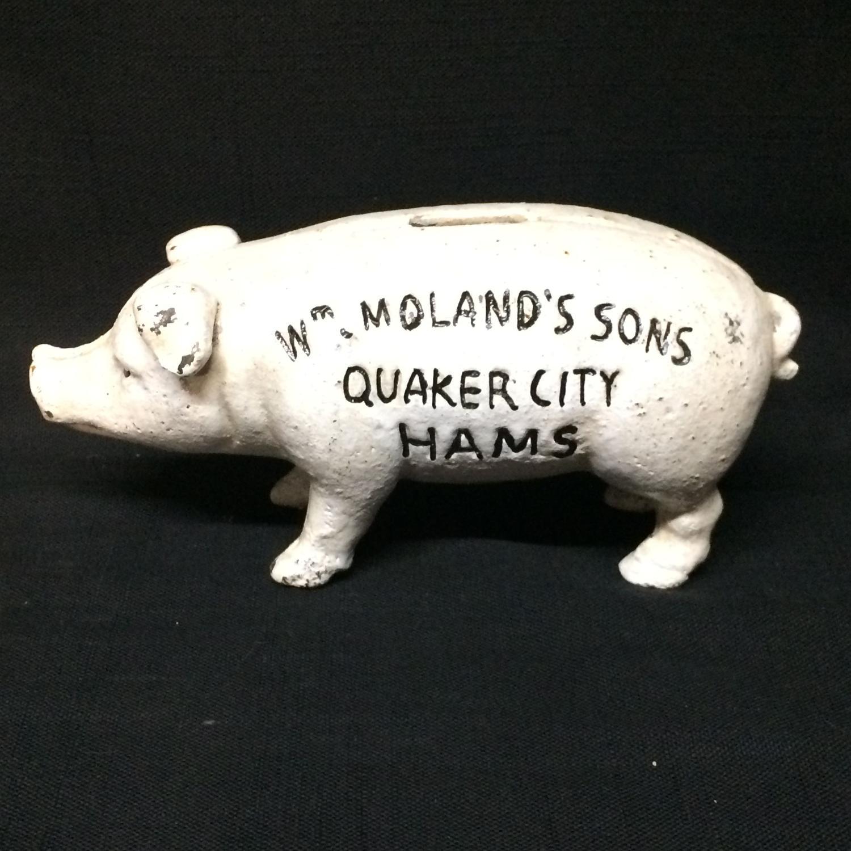 Quaker City Hams Hog Pig ~ c1950
