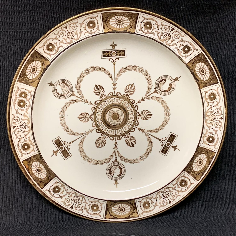 Wedgwood Faith Hope Charity Plate ~ 1877