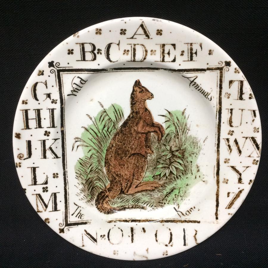 1880 ~ ABC Kangaroo Plate