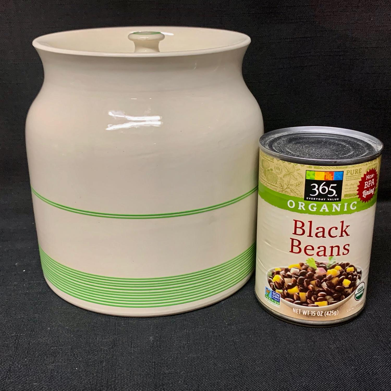 Cornishware Banded Kleen Kitchen Ware Large Storage Jar ~ c 1940