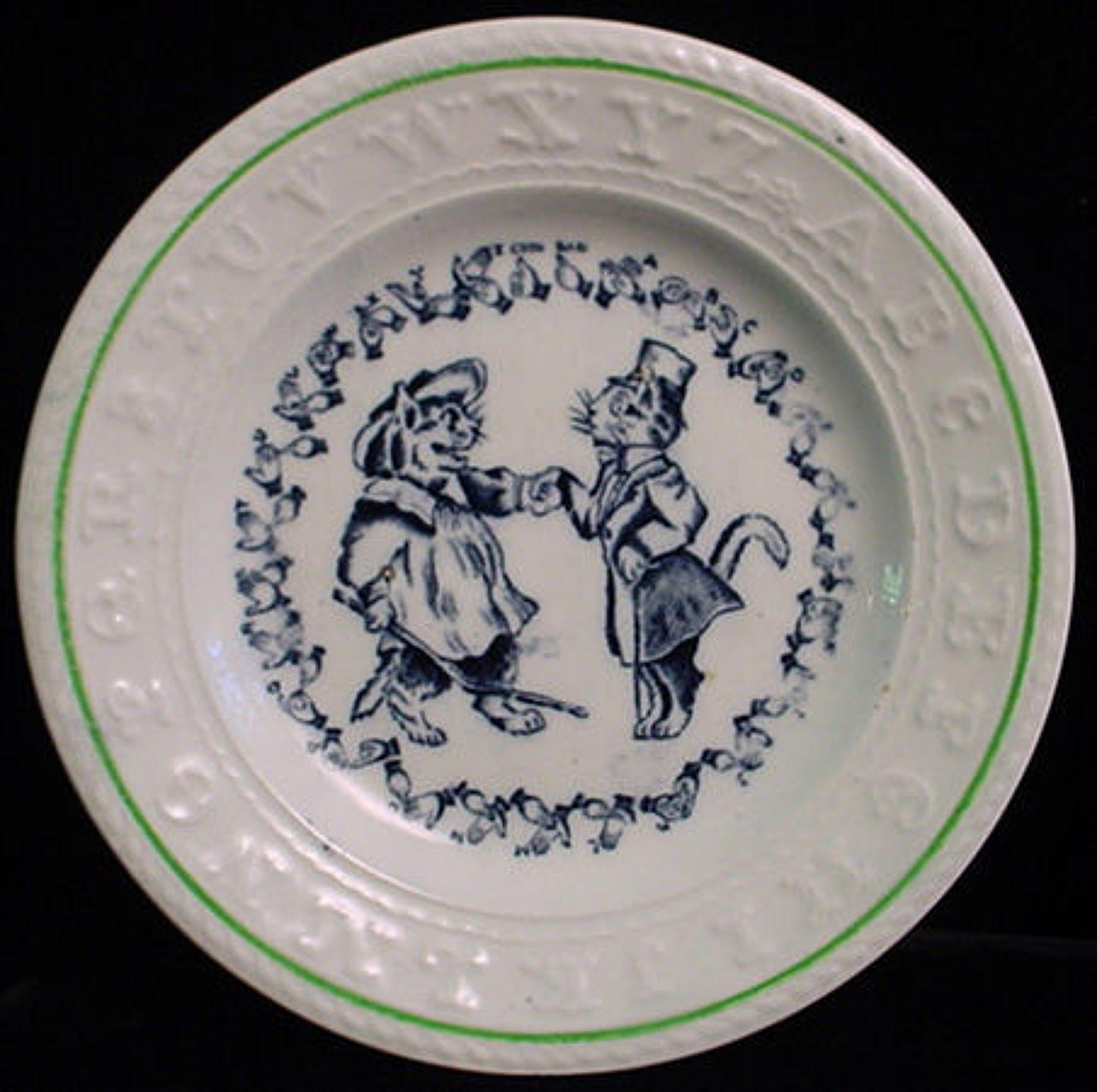 EXC Double ABC Plate ~ CATS ~ Sign Language 1890