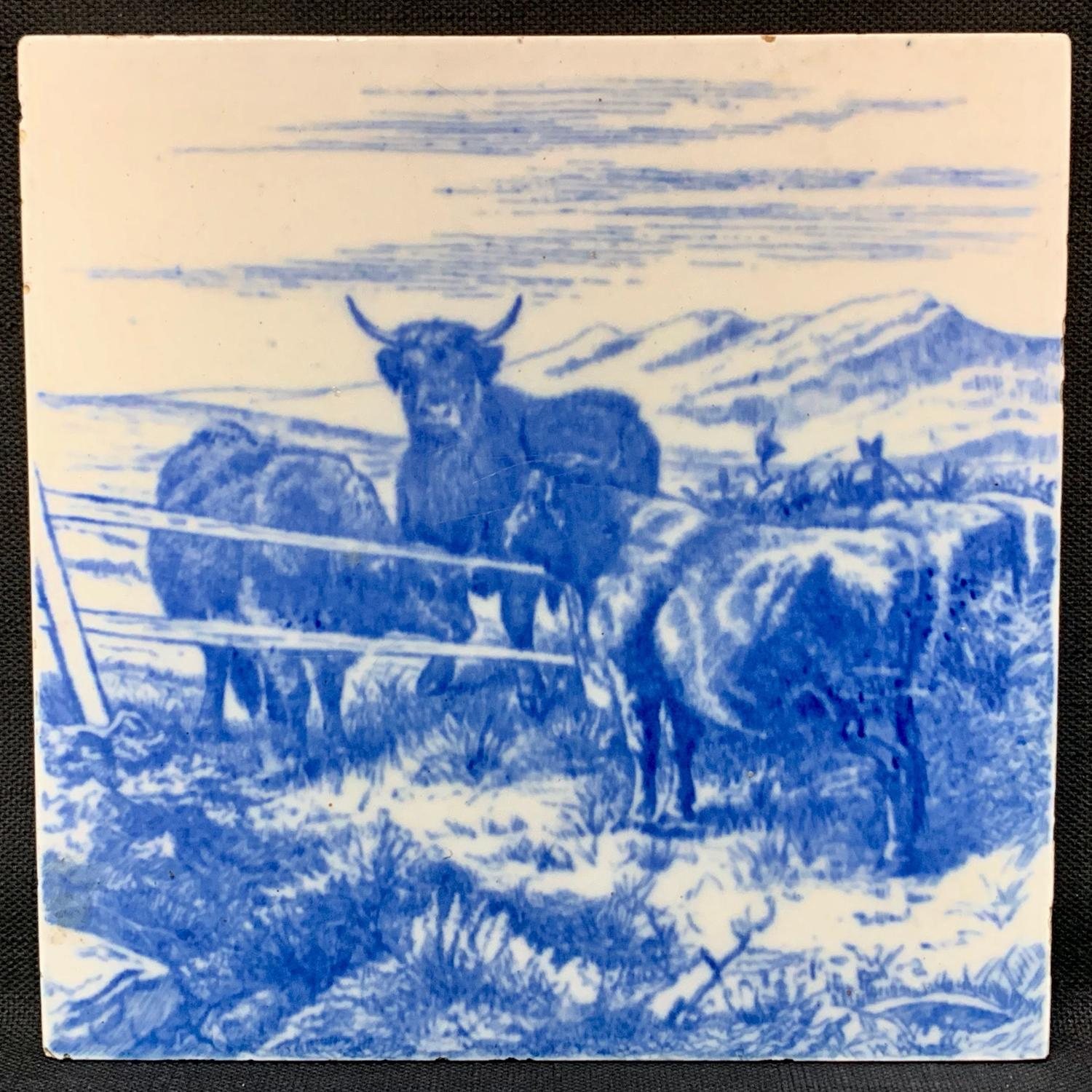 William Wise Farm Animals ~ Cows ~ Tile 1879