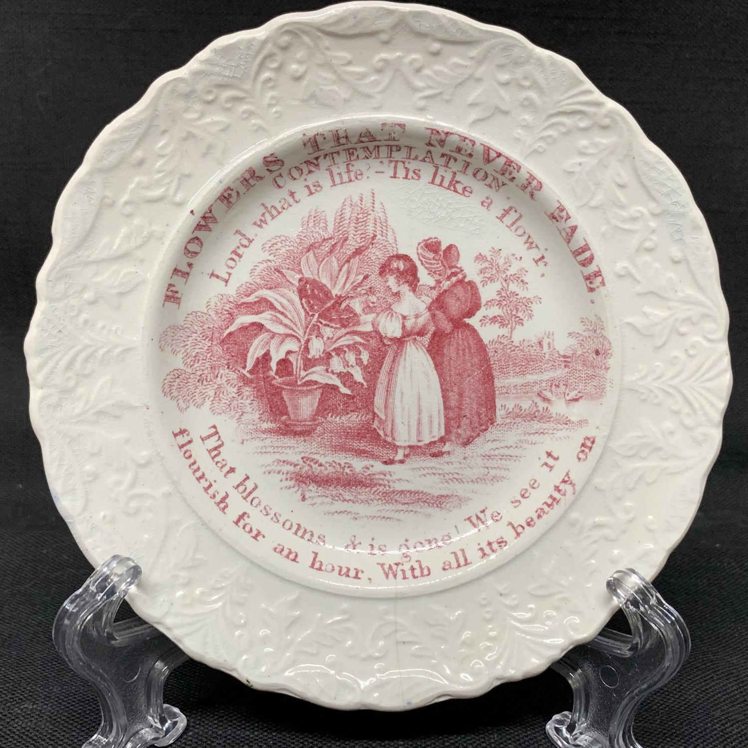 Flowers That Never Fade Plate ~ CONTEMPLATION ~ 1840