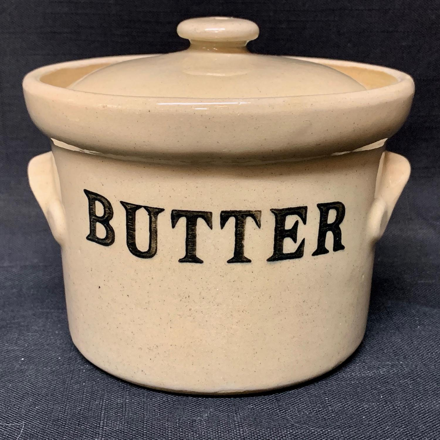 English Stoneware BUTTER Dairy Shop Tub Denby Potteries, England
