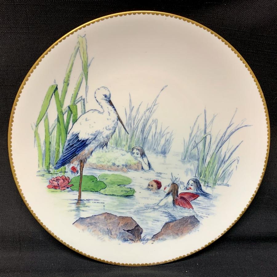 Staffordshire Allegorical Plate ~ Dignity & Impudence ~ 1880