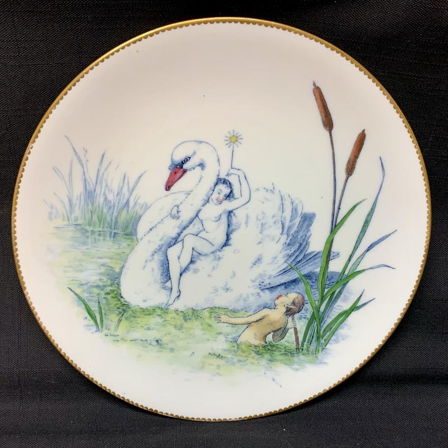 Staffordshire Allegorical Cabinet Plate ~ Captivated Elf Fairy Princes