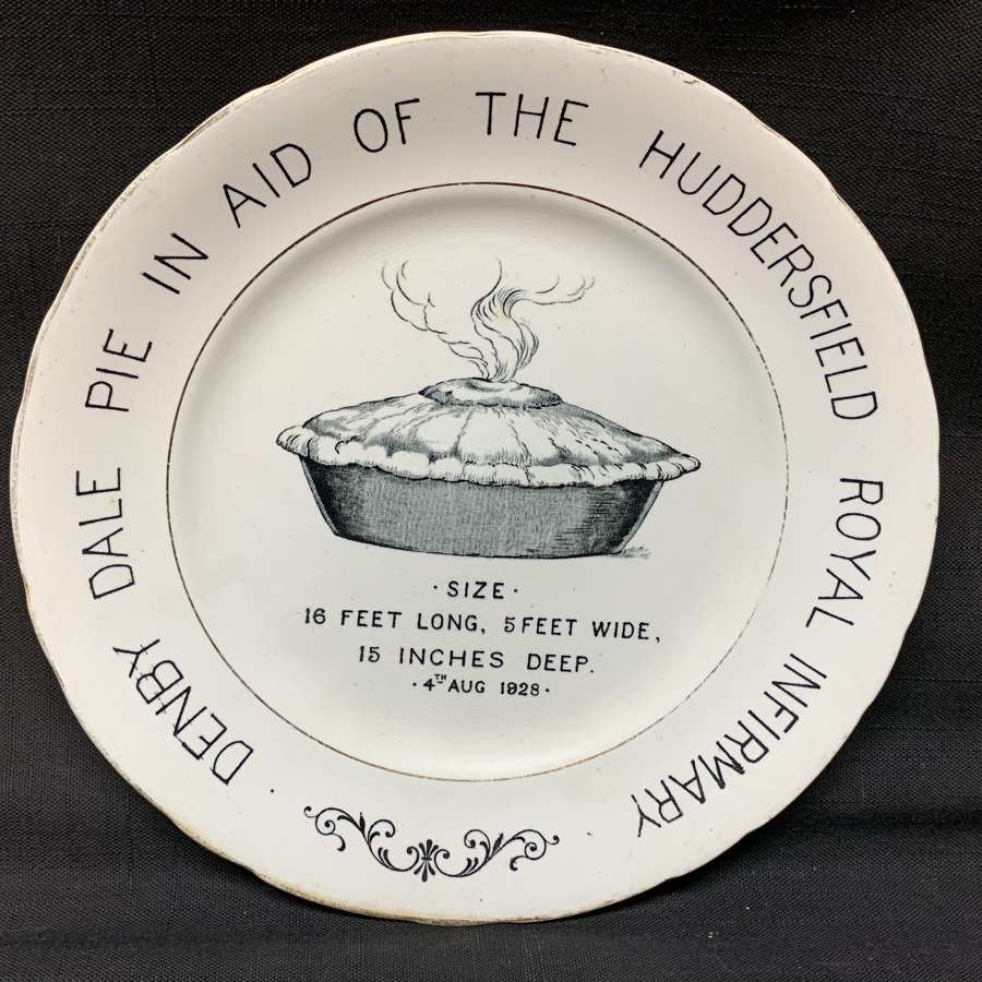 English Ironstone Advert Plate Denby Dale PIE 1928