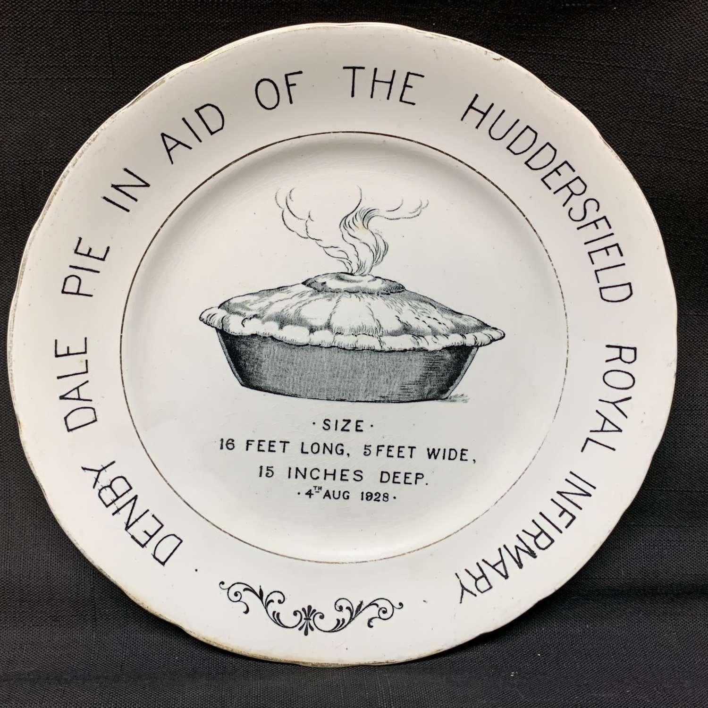English Ironstone Advert Plate Denby Dale PIE 1928