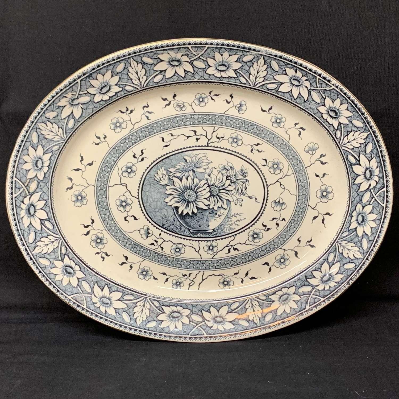 1883 Very Large English Transferware Platter ~ PALMYRA Staffordshire
