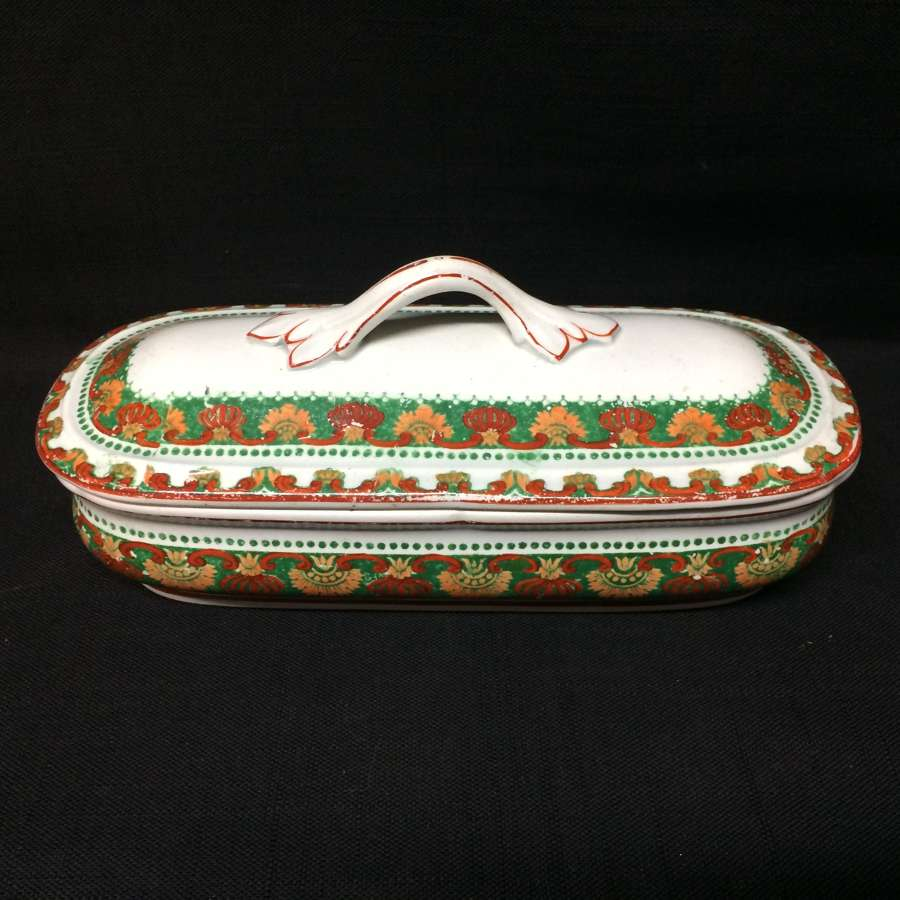 English Polychrome Razor Box ~ 1880