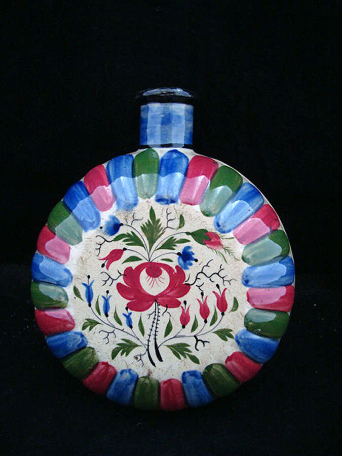 Early Stoneware Staffordshire Pilgrim Flask 1820