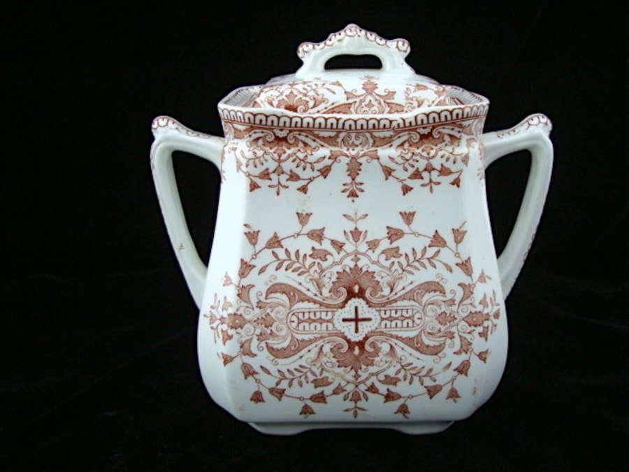 Aesthetic Movement Brown Sugar Jar ~ TOURNAY 1885