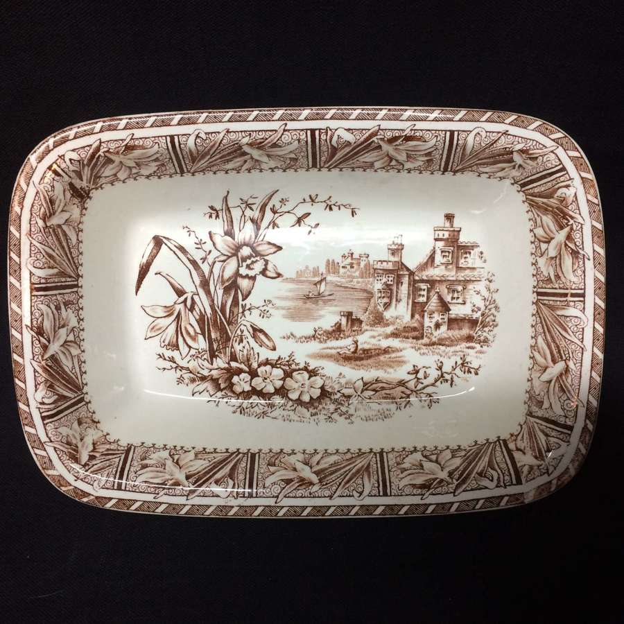 1882 ~ Victorian Transfer Printed English Staffordshire Vegetable