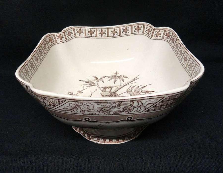 Victorian English Transferware Centerpiece Bowl ~ MELBOURNE 1882
