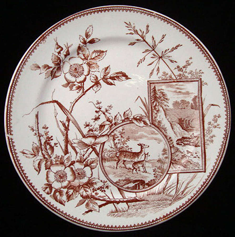 English Victorian Plate ~ DEER 1880