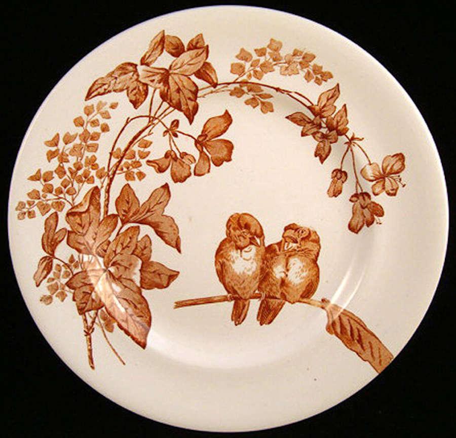 Superb Aesthetic Transfer Plate ~ Lovebirds 1885