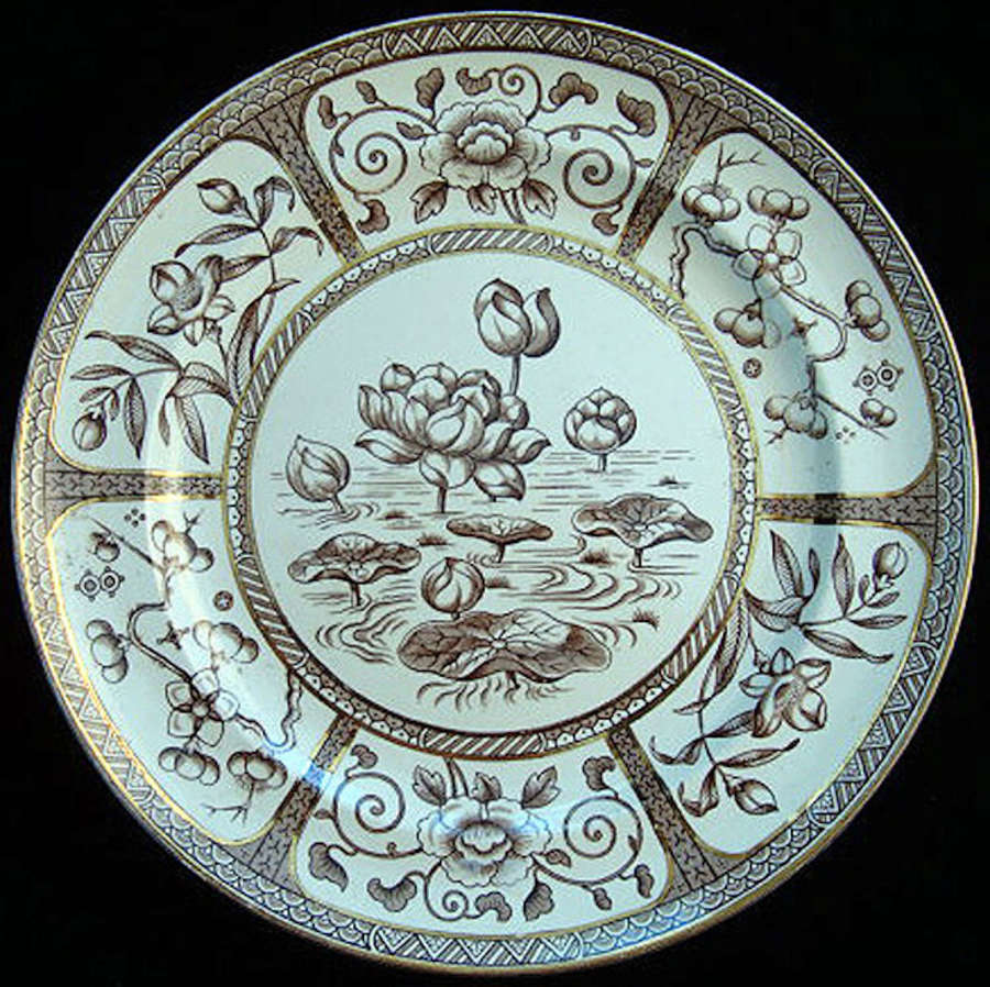 Aesthetic Plate ~ Water Lily + Lotus Flower 1883