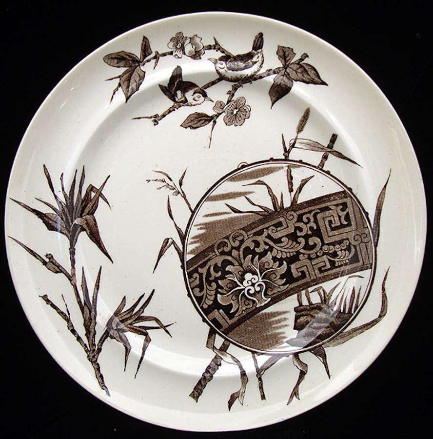 Superb English Aesthetic Movement Plate ~ CHOCO 1880